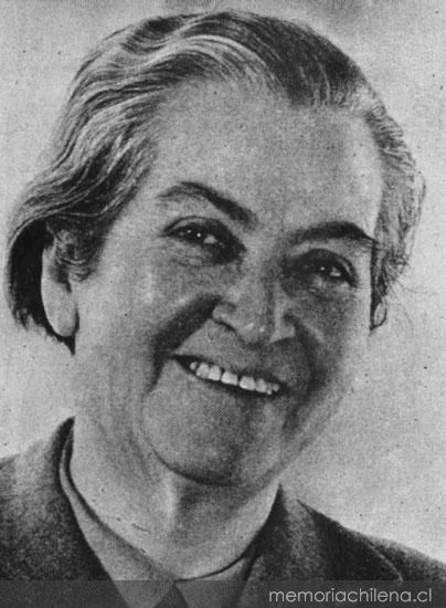 Gabriela Mistral, ca. 1954